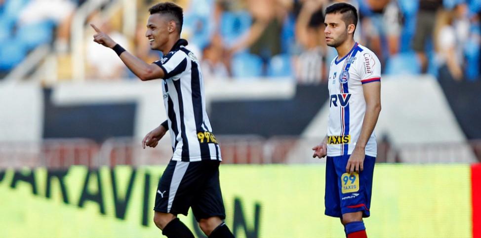 Botafogo vence o Bahia e está a uma vitória da Série A