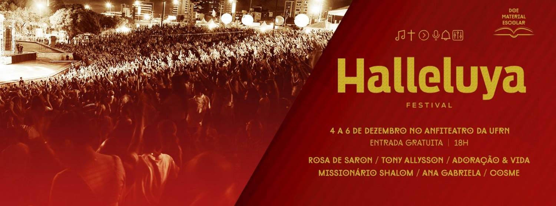 Festival Halleluya começa nesta sexta-feira (04)