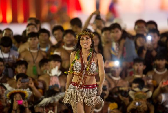 Jogos trazem desfile de beleza indígena para valorizar diversidade das etnias