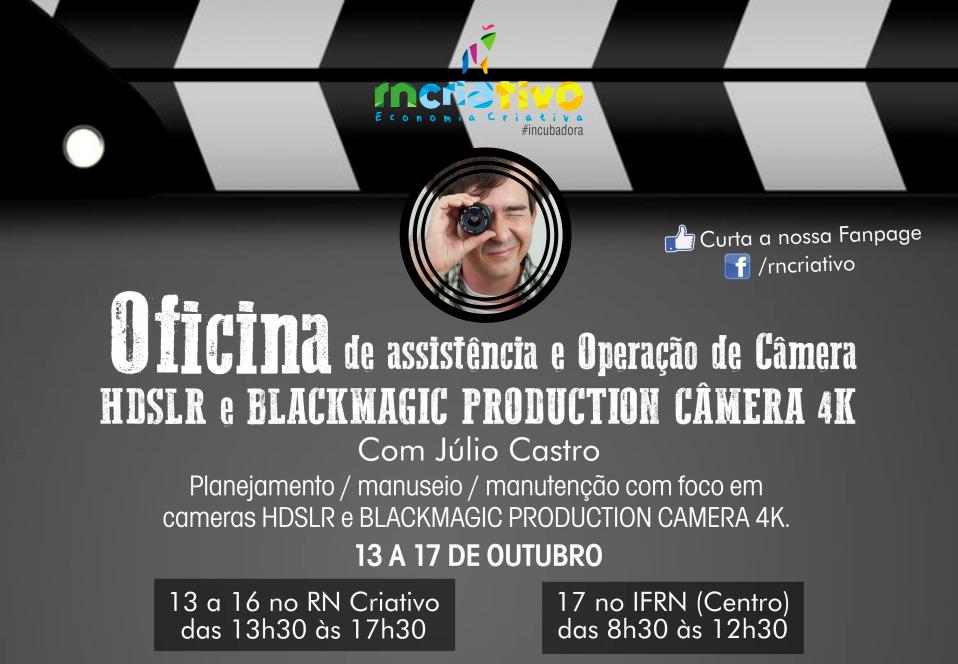RN Criativo abre segunda turma para curso de Operação de câmeras HDSRL e Blackmagic