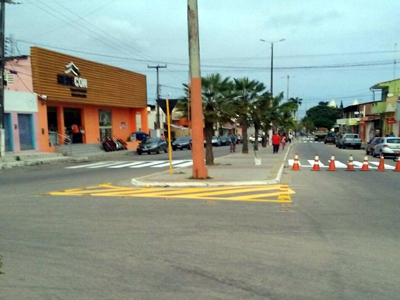 Detran sinaliza centro de São José do Mipibu