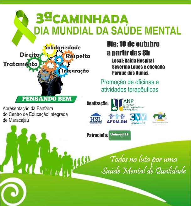 Caminhada, orientações e exposições marcam o Dia Mundial da Saúde Mental