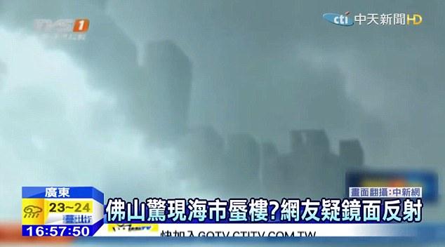 """Universo paralelo? Chineses afirmam terem visto uma """"cidade flutuante"""""""
