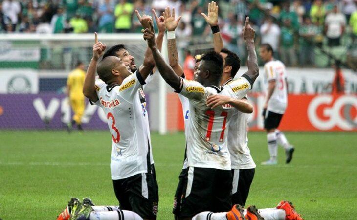 Vasco derrota o Palmeiras por 2 a 0 fora de casa