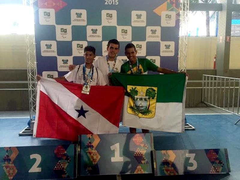 Natação do RN conquista sete medalhas nas Paralimpíadas Escolares