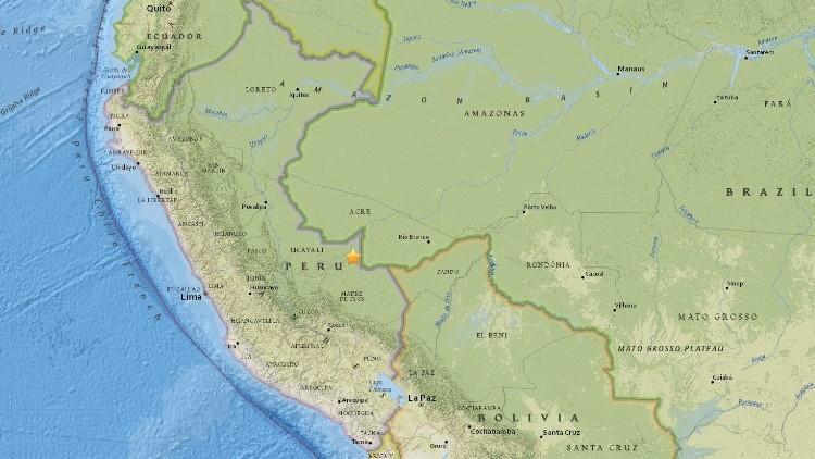 Tremor de magnitude 7,6 atinge fronteira entre Peru e Brasil