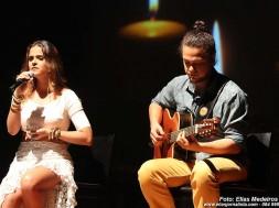 Camila Masiso e o músico Diogo Guanabara