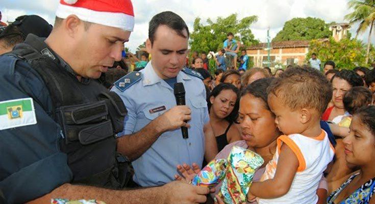 Polícia Militar arrecada brinquedos e donativos para crianças de São José de Mipibu