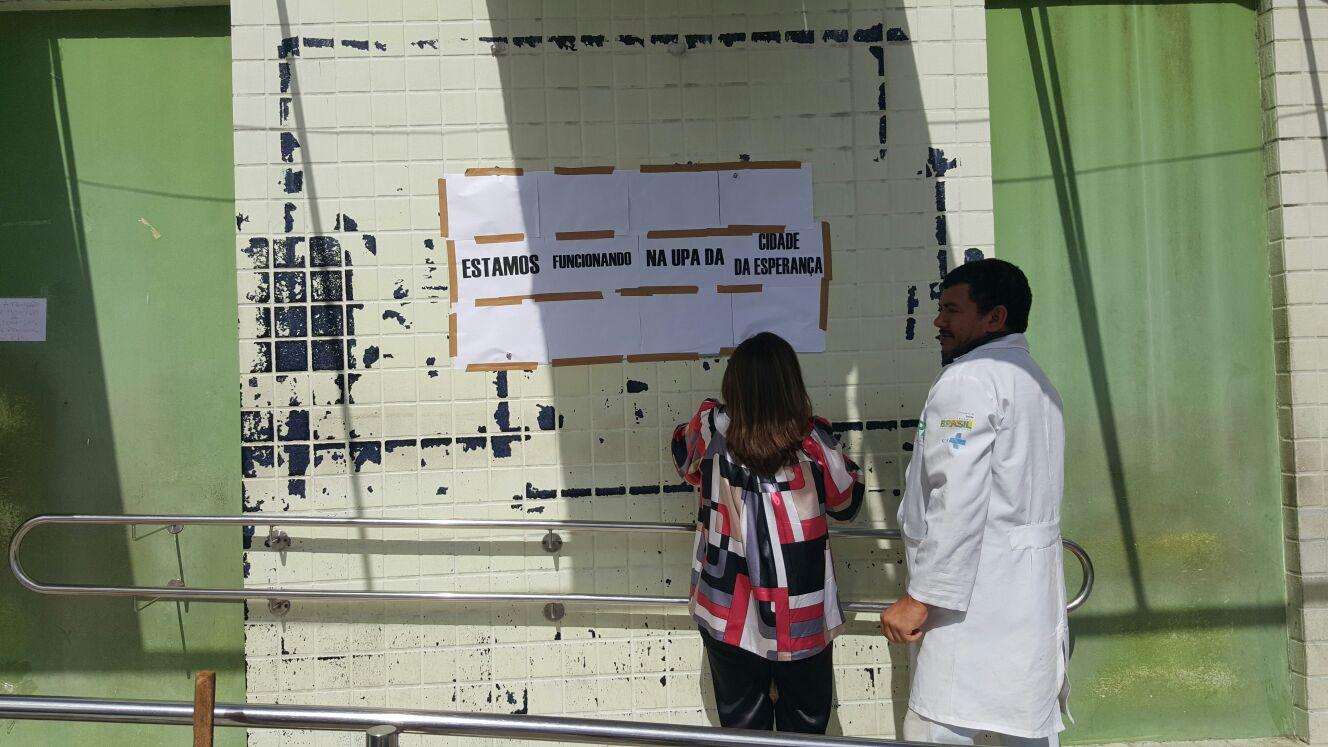 Serviços do Sandra Celeste são transferidos temporariamente para a UPA Esperança