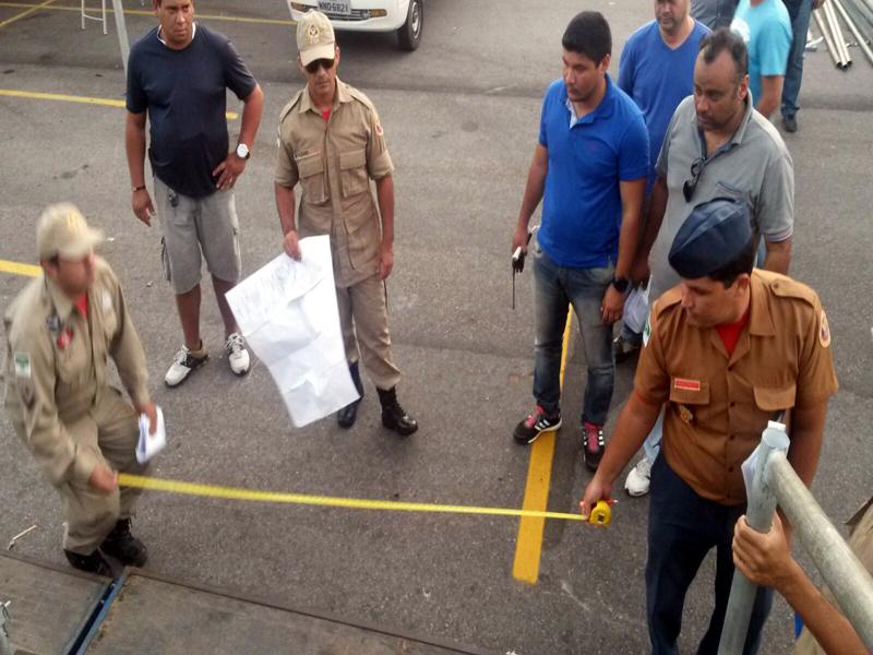 Corpo de Bombeiros inicia fiscalização da estrutura do Carnatal 2015