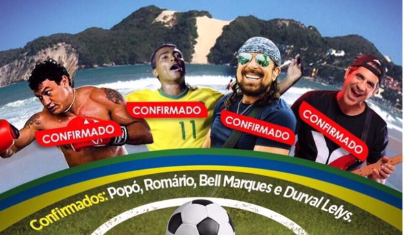 Com presença de Romário e Popó, Natal recebe jogo solidário neste final de semana