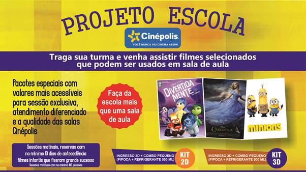 Projeto Escola alia cinema, estudos e diversão no Cinépolis do Natal Shopping