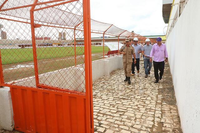 Estádio Nogueirão recebe nova vistoria do Corpo de Bombeiros