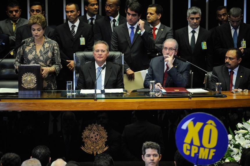 Sob protestos, Dilma pede apoio do Congresso para recriação da CPMF