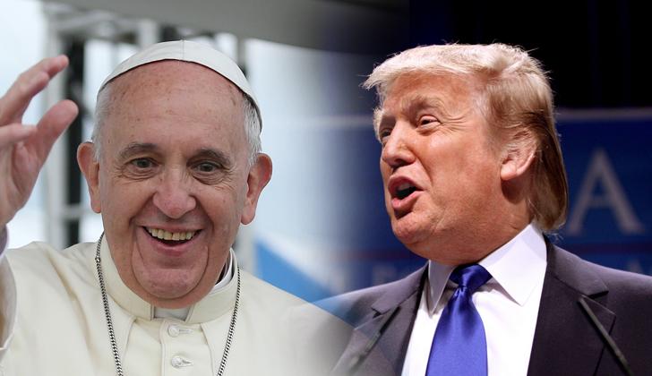 Após críticas, Trump diz que papa Francisco 'é maravilhoso'