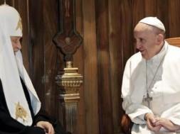 papa francisco e patriarca ortodoxo