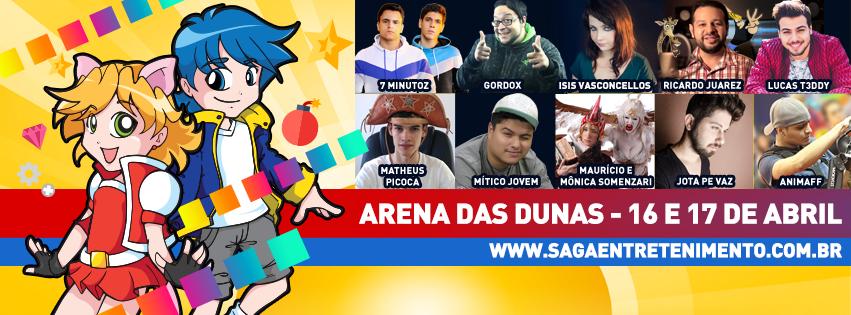 SAGA 2016 acontece neste final de semana na Arena das Dunas