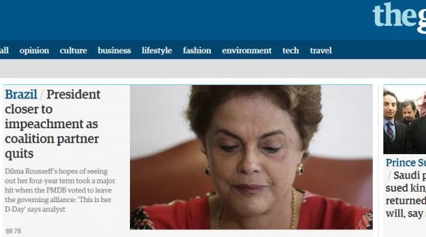 Com ironia e choque, mídia internacional destaca impeachment