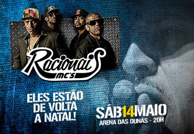 Racionais Mc's fará show único na Arena das Dunas