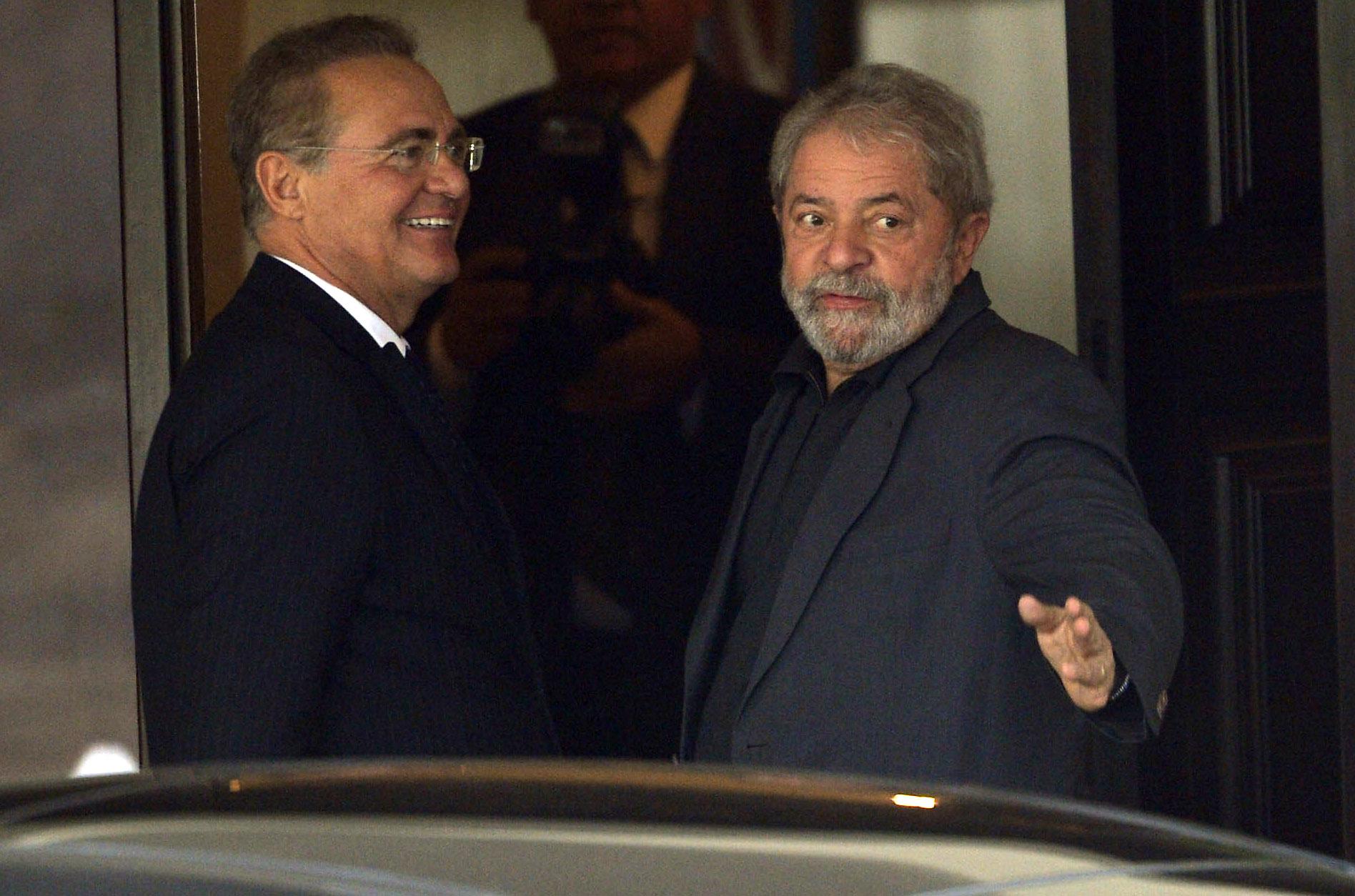 Em reunião com Lula, Renan diz que decisão do Senado será política e de mérito