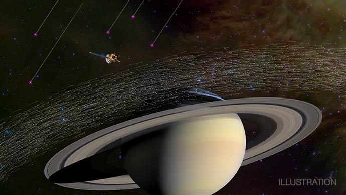 Sonda Cassini detecta poeira estelar fora do Sistema Solar