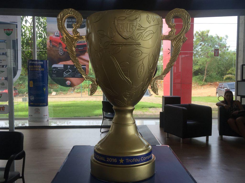 Troféu do Campeonato Potiguar 2016 homenageia maior cajueiro do mundo