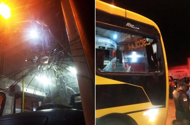 Universitário é baleado na cabeça em tentativa de assalto a ônibus escolar