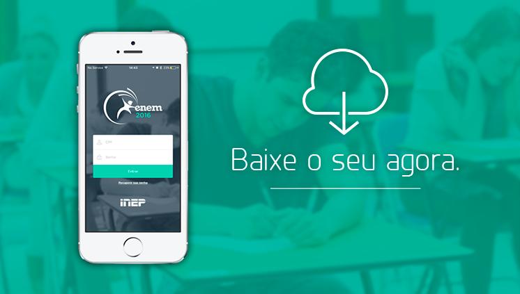 Participantes do Enem 2016 podem baixar aplicativo a partir desta quarta (1º)