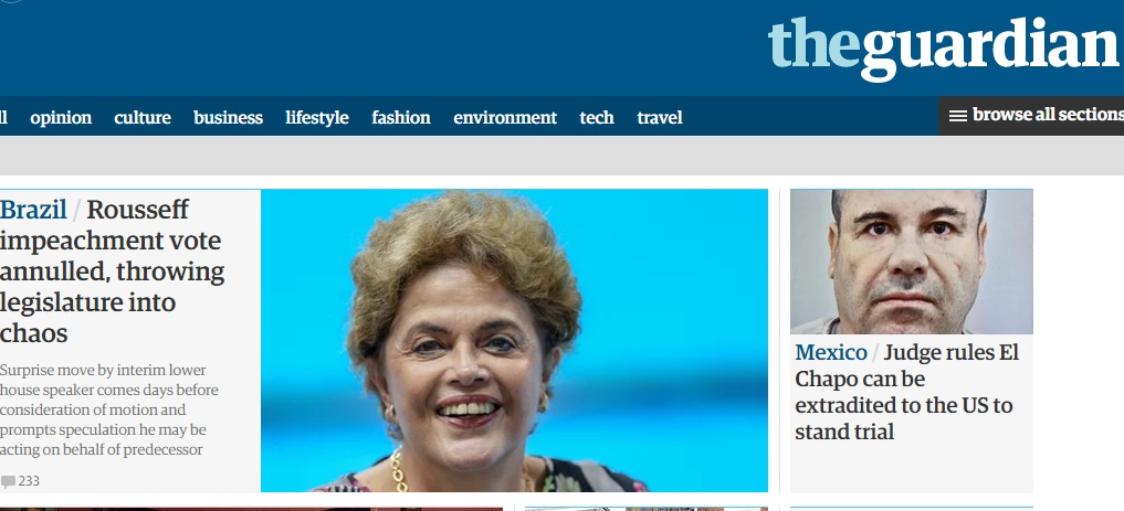'Supresa', mídia internacional repercute decisão de Maranhão