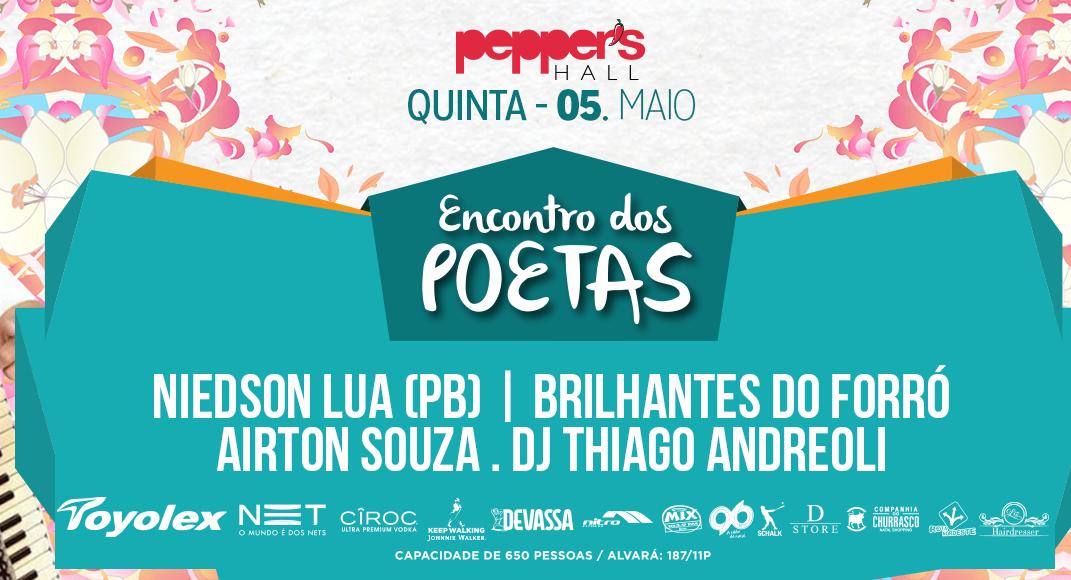 """Festa """"Encontro dos Poetas"""" abre programação de maio na Pepper's Hall"""