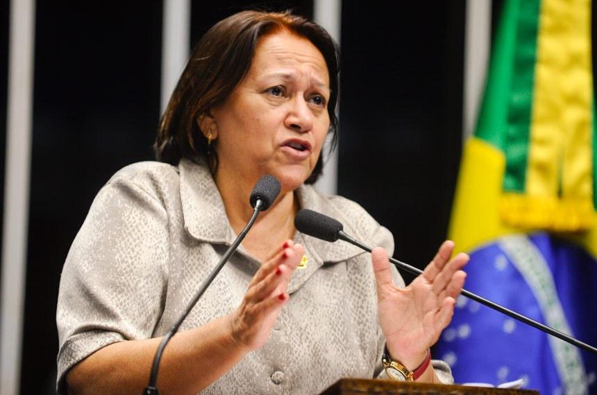 Fátima Bezerra ataca medidas anunciadas pelo governo Temer