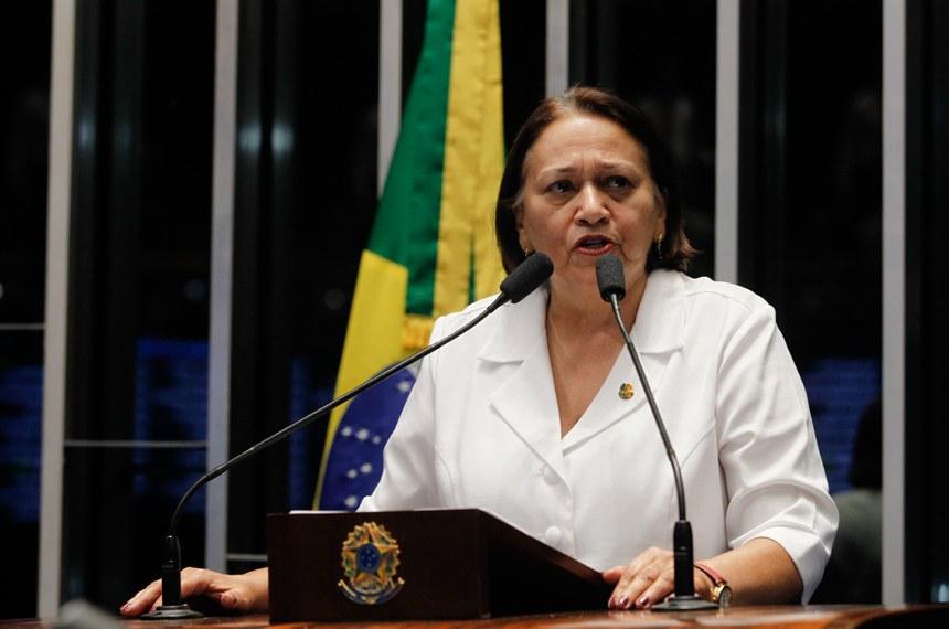 """Fátima Bezerra classifica sessão do Senado como """"Tragédia e farsa"""""""