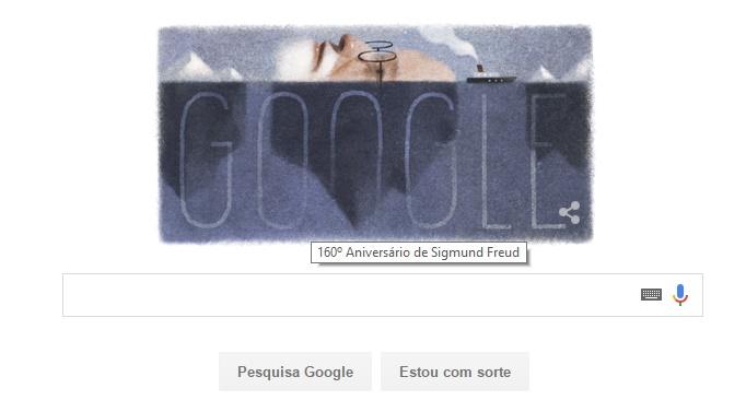 Em seu 160º aniversário, Freud é homenageado pelo Google