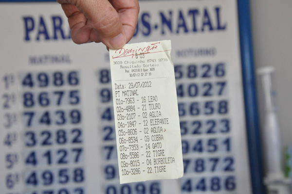 Se legalizado, jogo do bicho poderá ser feito em lotéricas