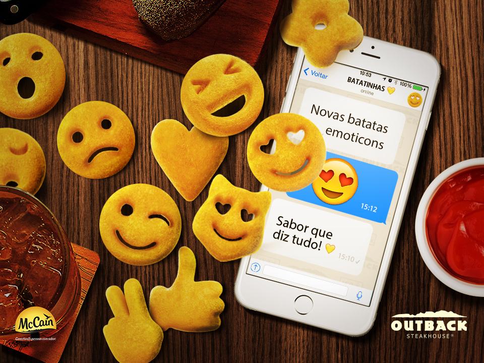 Outback e McCain lançam batatas inspiradas nos famosos emoticons das redes sociais