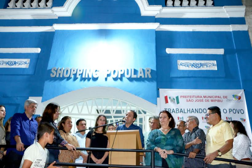Fábio Dantas participa de inauguração de centro comercial em São José de Mipibu