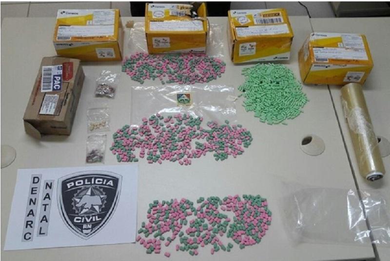 Polícia Civil apreende quase 1.400 comprimidos de ecstasy na Operação Telegrama