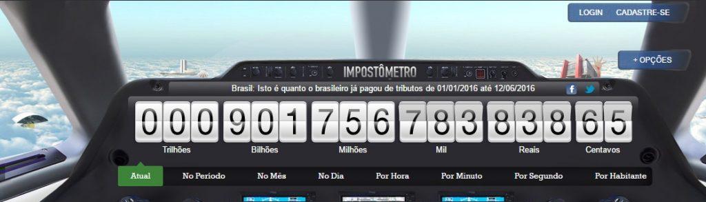 Impostômetro ultrapassa R$ 900 bilhões neste domingo (12)