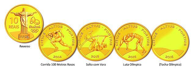 Olimpíadas: BC vende mais de 500 mil moedas comemorativas