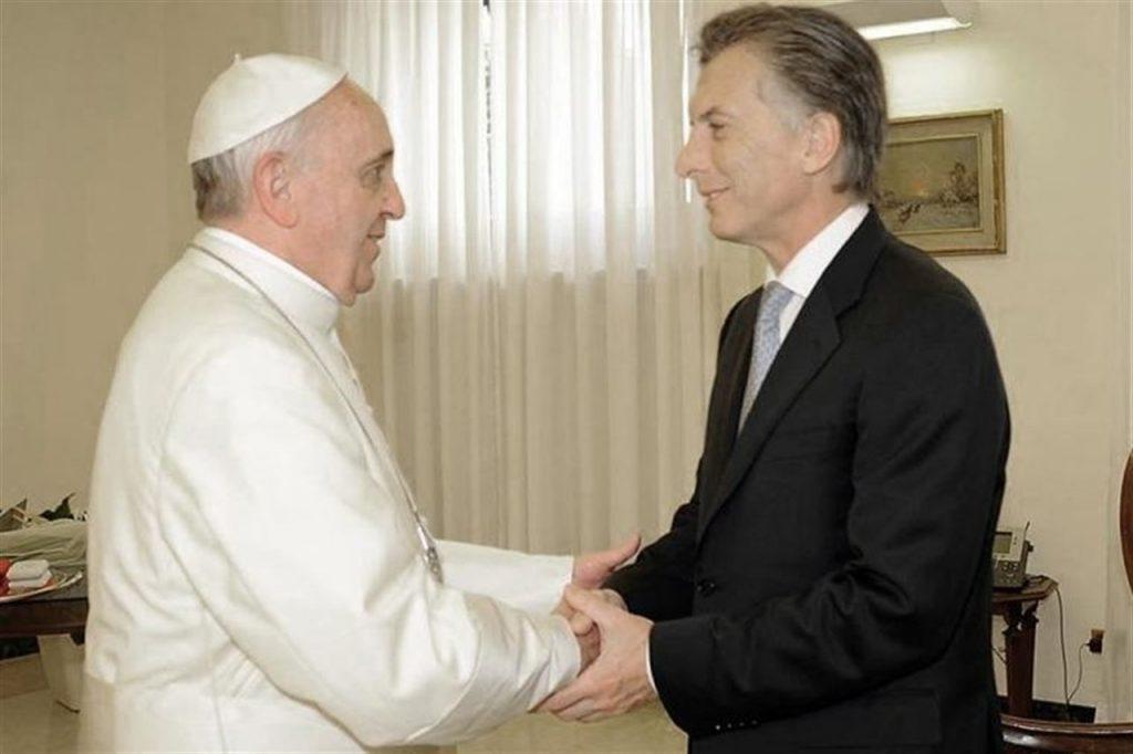 Papa rejeita doação milionária de Macri por achar valor exagerado