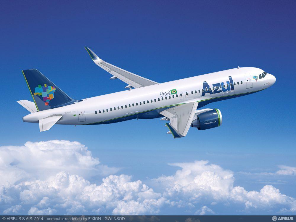 Azul iniciará voos com os Airbus A320neo para Natal/RN e outros 14 destinos domésticos