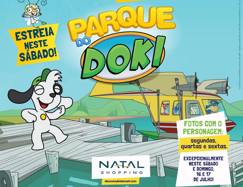 Parque do Doki chega ao Natal Shopping neste sábado (16)