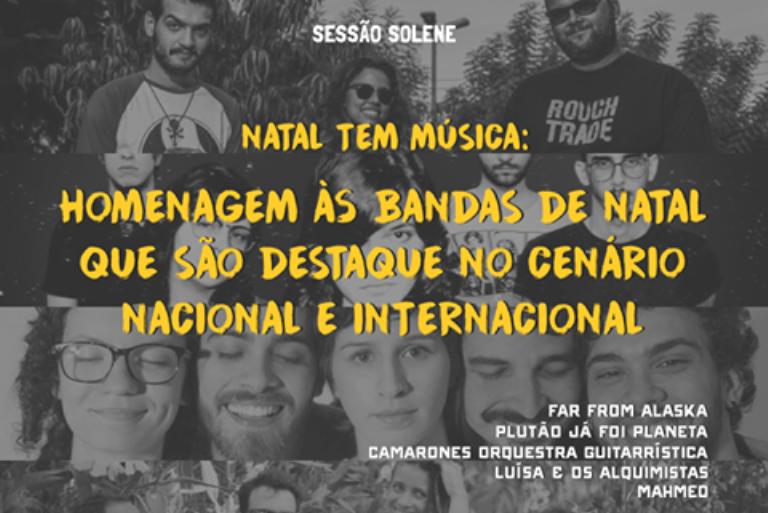 Câmara Municipal vai homenagear bandas natalenses com destaque nacional e internacional