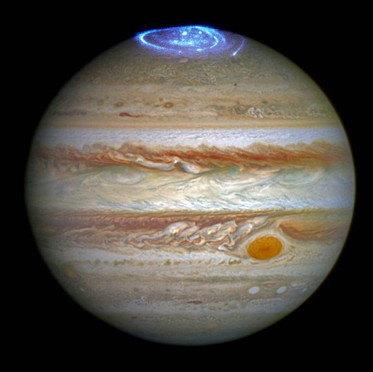 Telescópio Hubble captura aurora boreal em Júpiter
