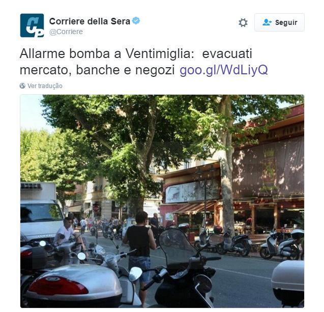 Itália isola centro comercial após ameaça de bomba