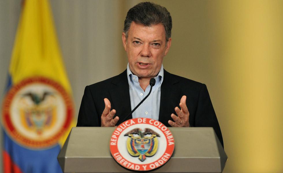 Presidente da Colômbia agradece Papa por acordo de paz