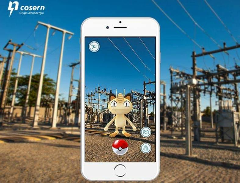 Cosern faz um alerta para riscos de Pokémons próximos à rede elétrica