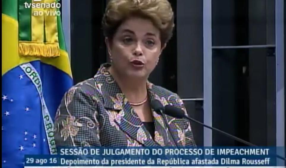 'Não esperem de mim o silêncio dos covardes', diz Dilma; assista sessão ao vivo