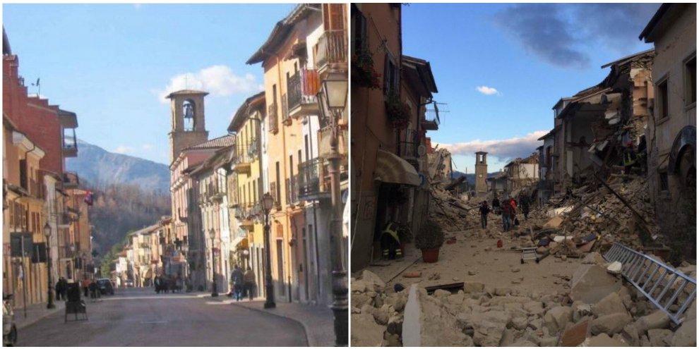 Hotel histórico desaba em Amatrice após terremoto na Itália