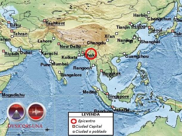 Terremoto destrói construções históricas em Mianmar